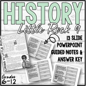 Little Rock Nine PowerPoint and Guided Notes