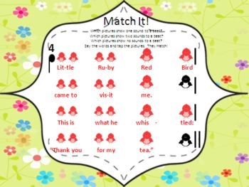 Little Ruby Red Bird - a mi so la lesson and game