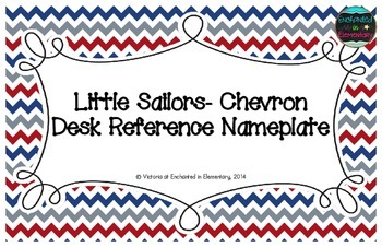 Little Sailors Chevron Desk Reference Nameplates