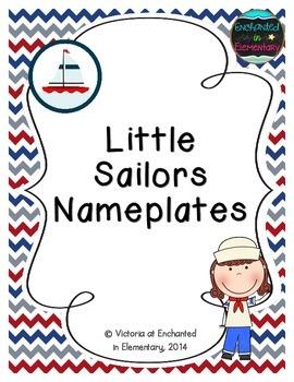 Little Sailors Nameplates