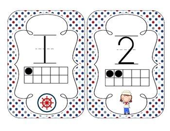 Little Sailors Number Cards 1-20