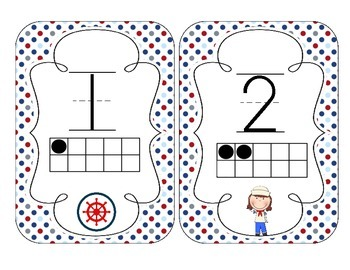 Little Sailors Number Cards 1-20