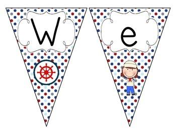 Little Sailors Welcome Pennant: Polka Dot Set