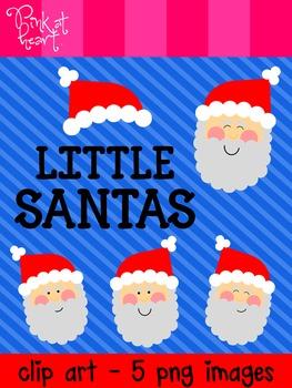 Little Santas Clip Art