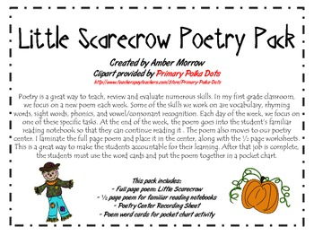 Little Scarecrow Poetry Pack