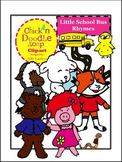 Little School Bus Rhymes Clipart  {Chick'n Doodle Soup}