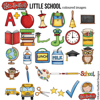 "Back to School Clip Art: ""Little School"""
