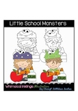Little School Monsters Clipart