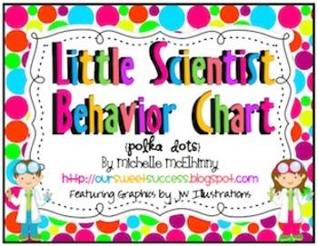 Little Scientist Vertical Behavior Chart {Polka Dots}
