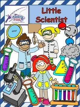 Little Scientists (53 clip art images -37 colored and 16 black-lined)