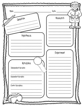 ... Little Scientists Lab Sheet (2 Pages) Scientific Method Lab Sheet
