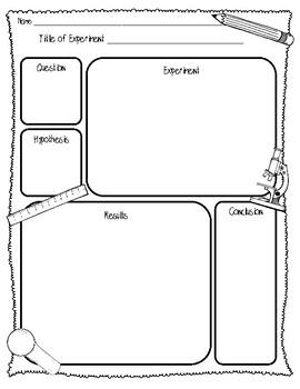 {FREEBIE} Little Scientists Lab Sheet (2 Pages) {Scientific Method Lab Sheet}