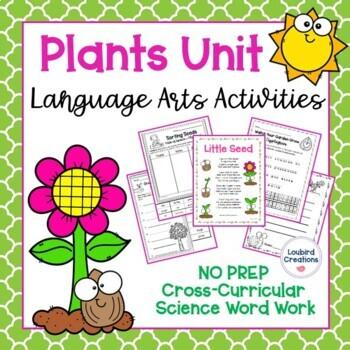 Plant Unit: Poem & Language Arts Activities