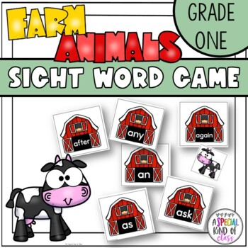 Little Sheep Sight Word Game Grade One Dolch Word List