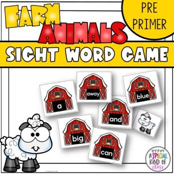 Little Sheep Sight Word Game Pre-Primer Dolch Word Llist