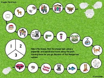 Little Sheep's Walk: An Expressive Language Irregular Plurals Adventure