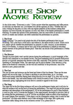 Little Shop of Horrors Quiz and Movie Review