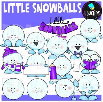 Little Snowballs Clip Art Bundle {Educlips Clipart}