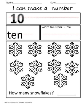 Little Snowflake and Snowman- Math Interactive Notebook