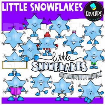 Little Snowflakes Clip Art Bundle {Educlips Clipart}