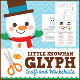 Snowman Glyph Craft and Worksheets
