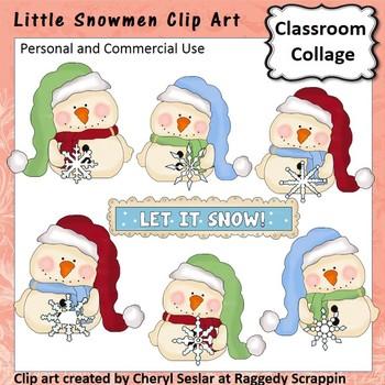 Little Snowmen clip art