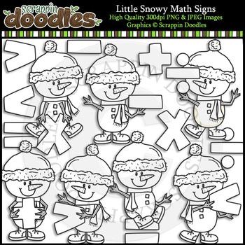 Little Snowy Math Signs