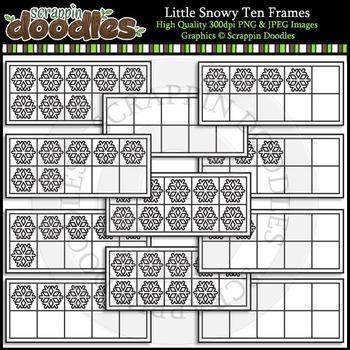 Little Snowy Ten Frames