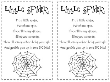 Little Spider Poetry Pack
