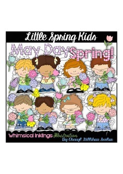 Little Spring Kids Clipart Collection