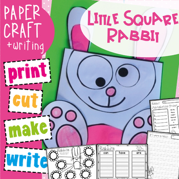 Easy Craft - Little Square Bunny Rabbit Craftivity