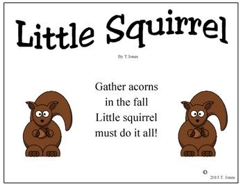 Little Squirrel Steady Beat Chart and Rhythmic Rhyme