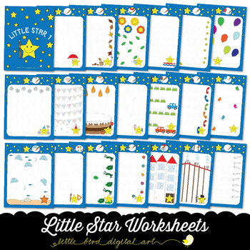 Little Star Worksheets 1 - Tracing Activities - Developing Fine Motor Skills