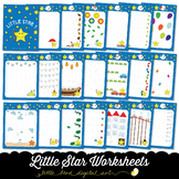 Little Star Worksheets 1 - Tracing Activities - Developing