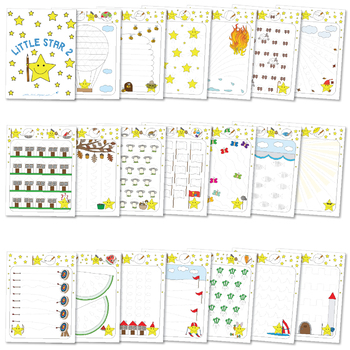 Little Star Worksheets 2 - Tracing Activities - Developing Fine Motor Skills