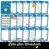 Little Star Worksheets 2 - Tracing Activities - Developing