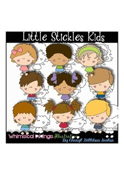 Little Stickles Kids Clipart Collection