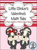 Little Stinker's Valentines Math Tubs {2-Digit Addition} - 5 Math Centers