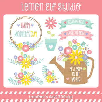 Mother's Day-Digital Clipart (LES.CL65)