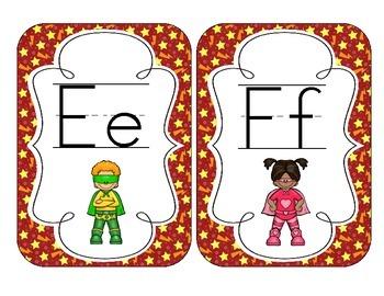 Little Superheroes Alphabet Cards