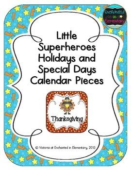 Little Superheroes Holiday Calendar Pieces