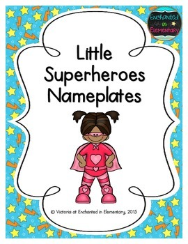 Little Superheroes Nameplates