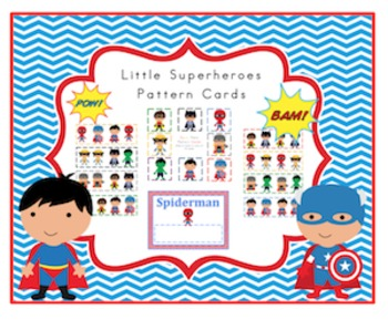 Little Superheroes Pattern Cards