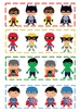 Little Superheroes Pattern Cards