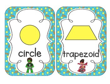 Little Superheroes Shape Cards