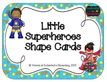 Little Superheroes Shape Cards