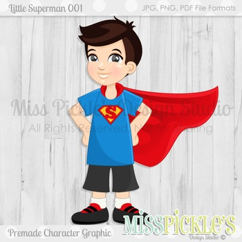 Little Superman- Commercial Use Character Graphic