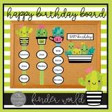 Little Sweet Succulents Birthday Bulletin Board Set