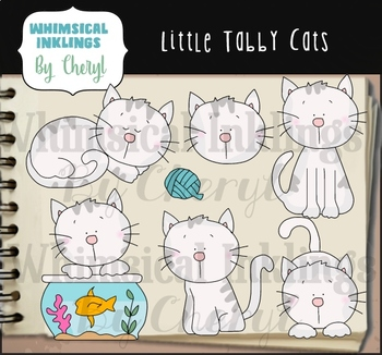 Little Tabby Cats Clipart Collection