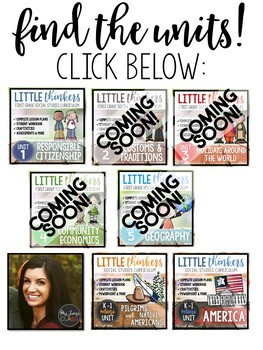 Little Thinkers 1ST GRADE Social Studies Curriculum Binder Spines